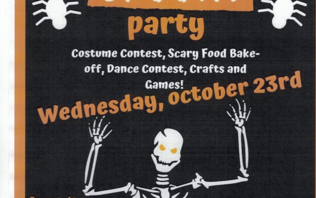 Halloween Party This Wednesday!